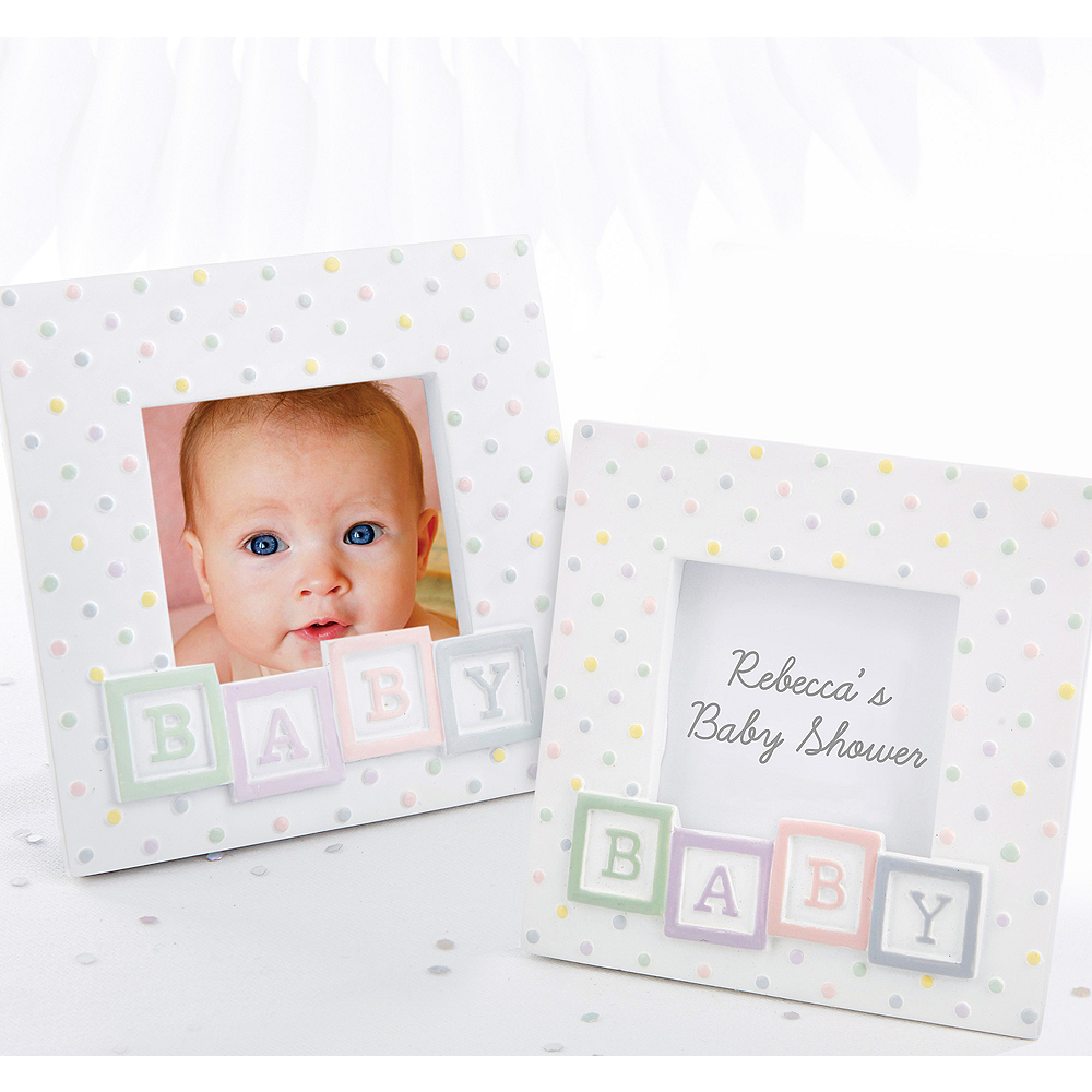 Baby Block Photo Frame Place Card Holder Image #1