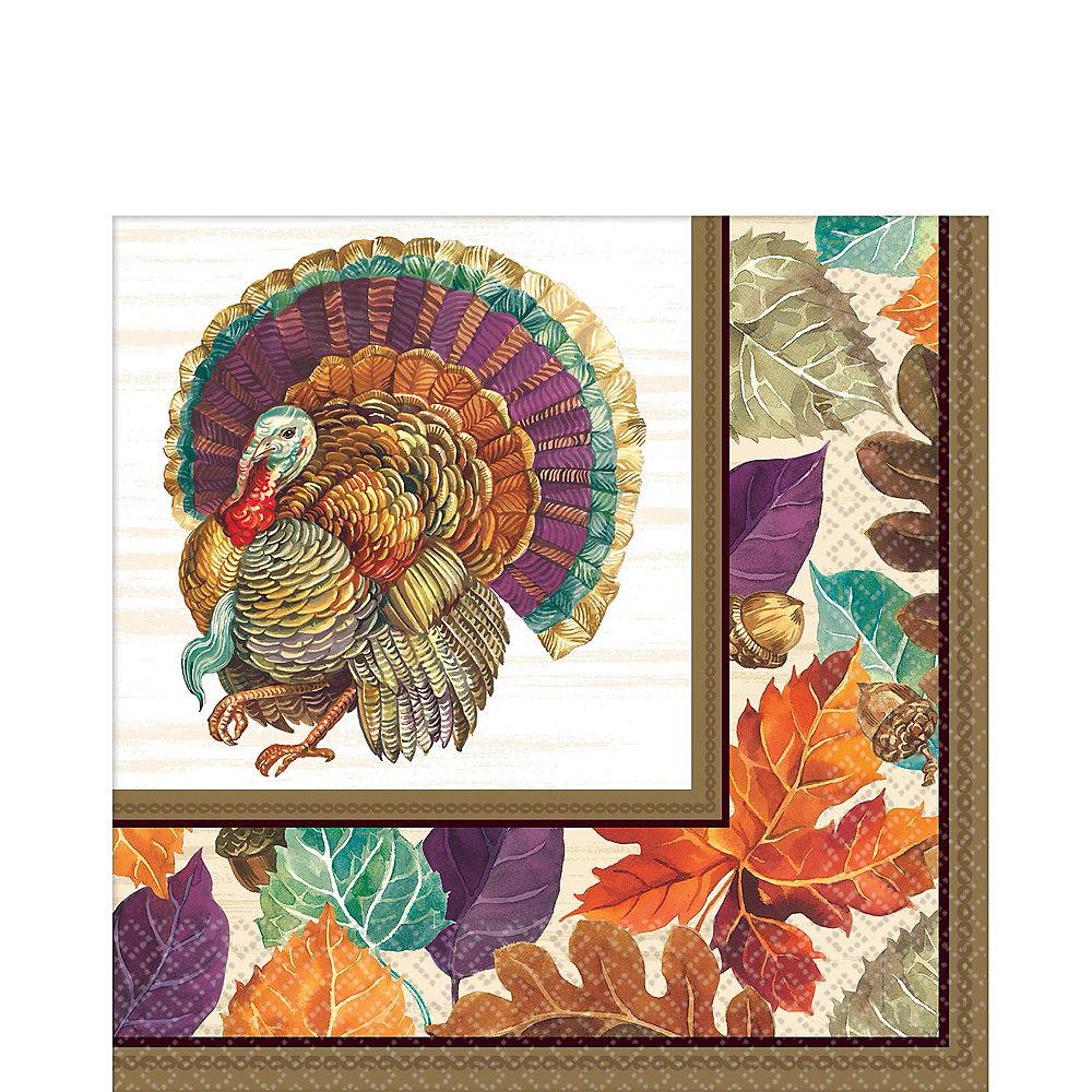 Traditional Thanksgiving Lunch Napkins 16ct Image #1