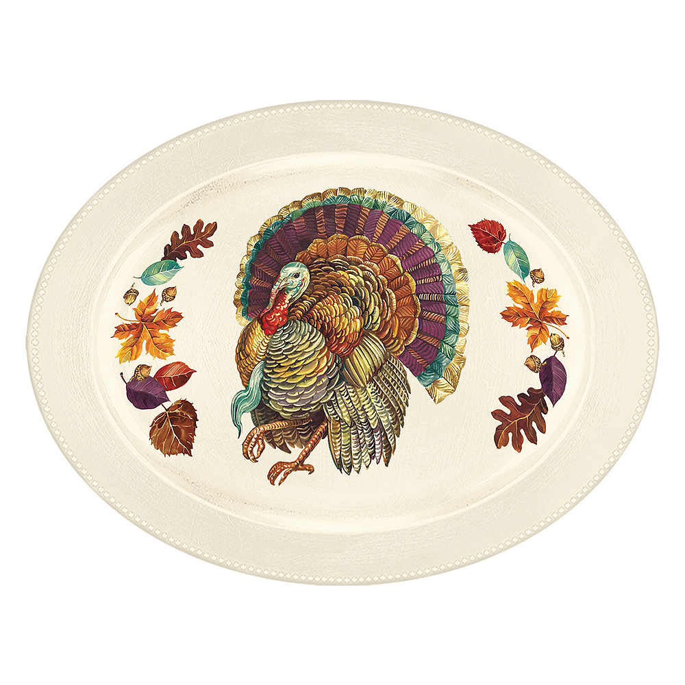 Traditional Thanksgiving Serving Tray Image #1