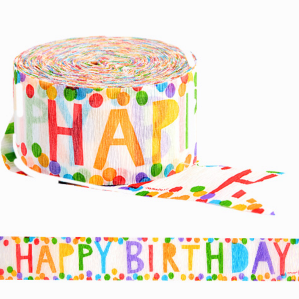 Admirable Colorful Happy Birthday Streamer 81Ft X 1 3 4In Party City Canada Birthday Cards Printable Giouspongecafe Filternl