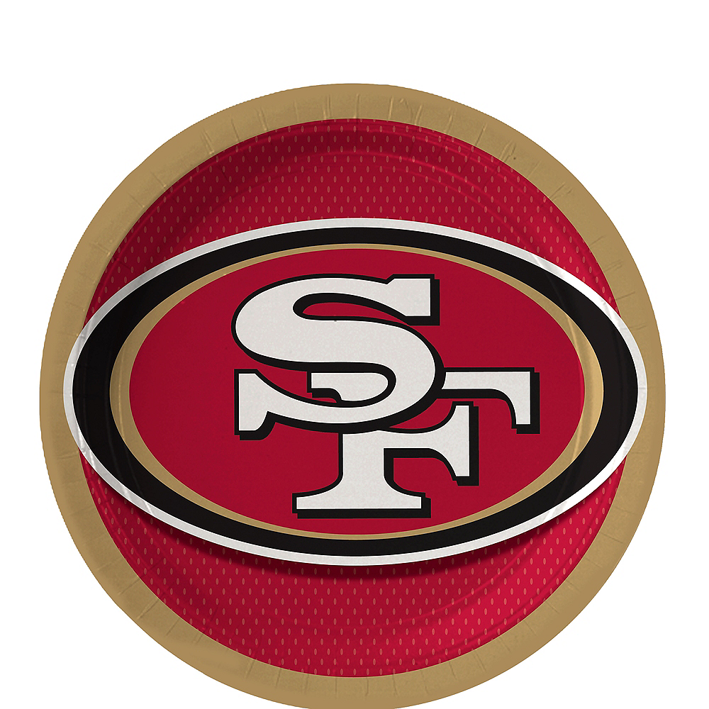 Nav Item for San Francisco 49ers Dessert Plates 18ct Image #1