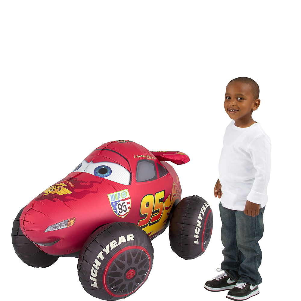giant gliding lightning mcqueen balloon cars 3 image 1
