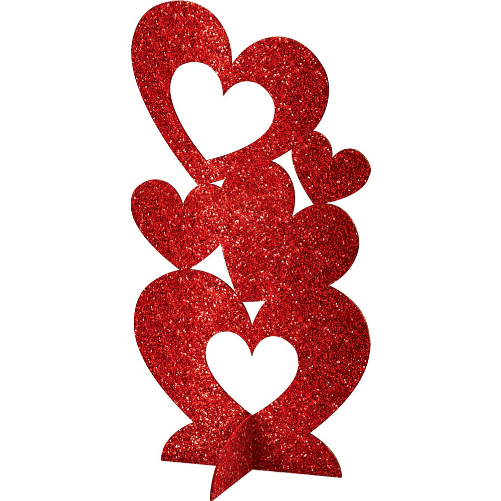 Confetti Hearts Valentine's Day Tableware Kit for 8 Guests Image #10