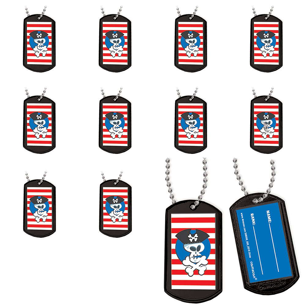 Pirate Dog Tag Necklaces 24ct Image #1