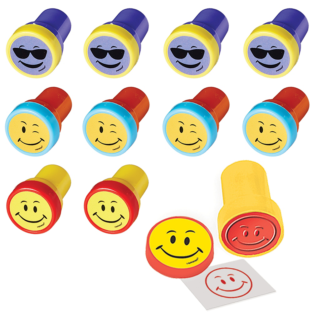 Smiley Self-Inking Stamps 48ct Image #1