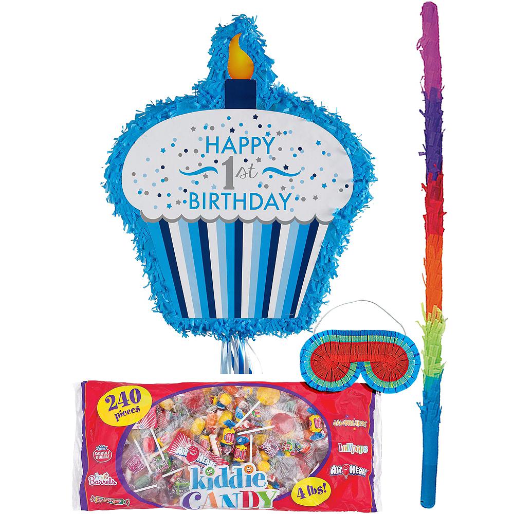 Blue Cupcake 1st Birthday Pinata Kit Image #1