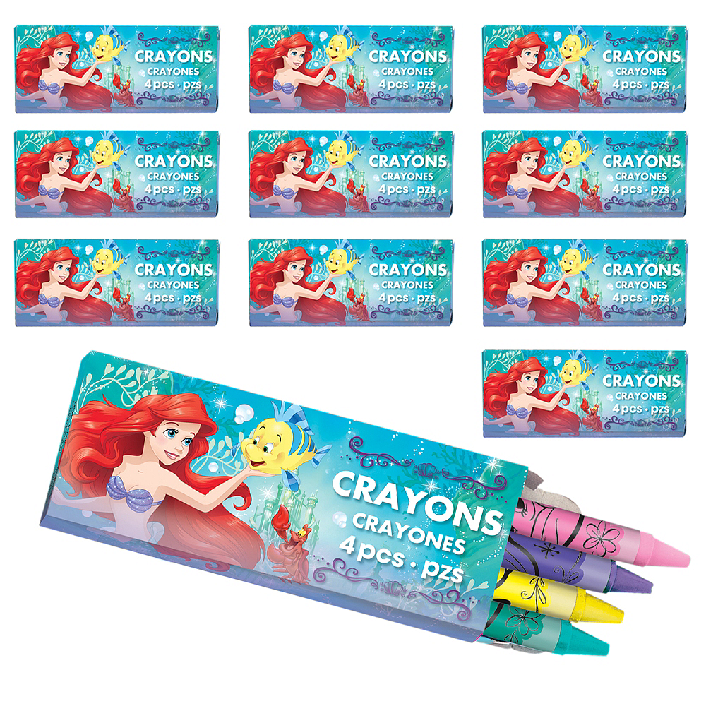 Little Mermaid Crayon Boxes 48ct Image #1