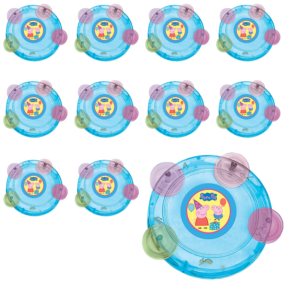 Nav Item for Peppa Pig Tambourines 24ct Image #1