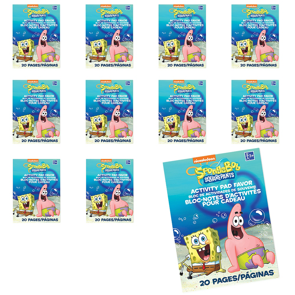 SpongeBob Coloring Books 48ct | Party City