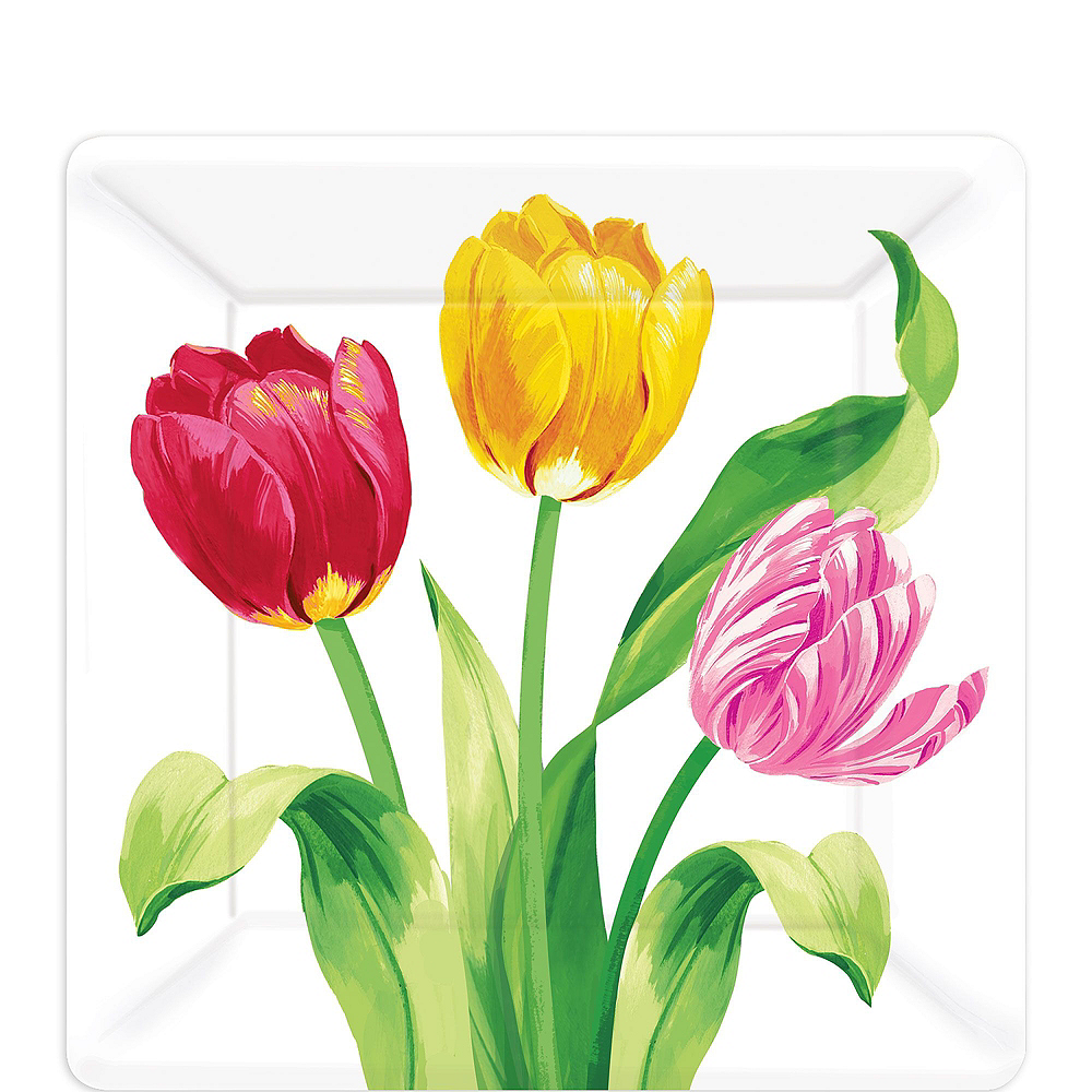 Spring Tulips Tableware Kit for 8 Guests Image #7