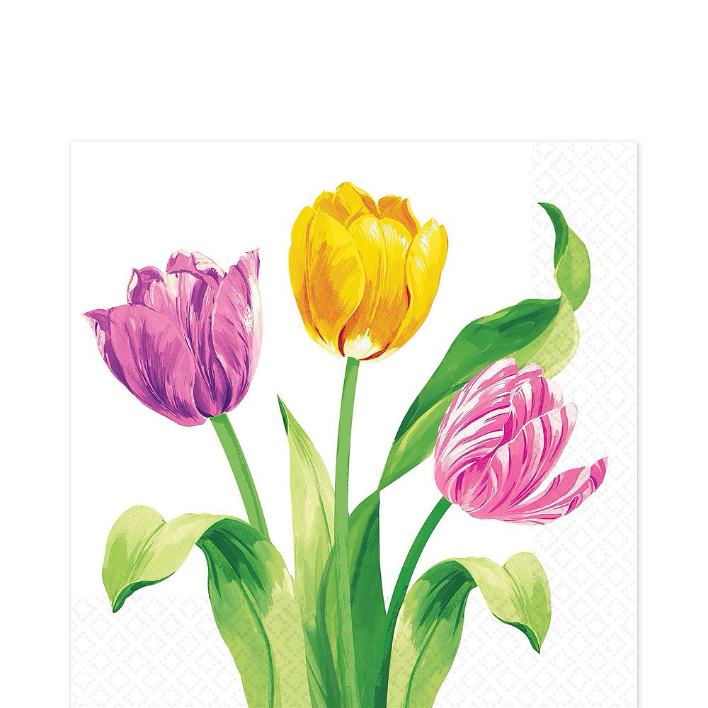 Spring Tulips Tableware Kit for 8 Guests Image #10