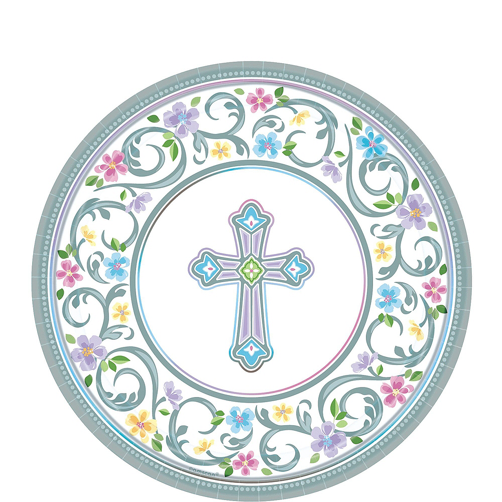 Blessed Day Religious Tableware Kit for 18 Guests Image #2
