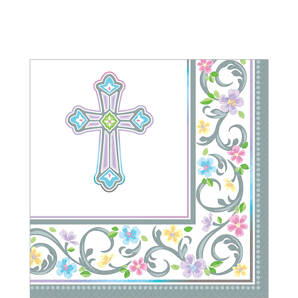 Blessed Day Religious Tableware Kit for 18 Guests Image #4