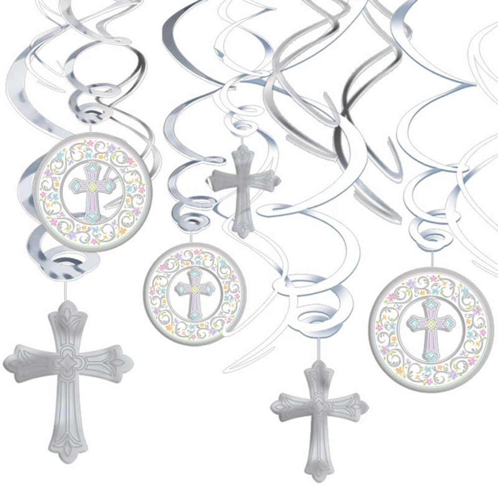 Blessed Day Religious Tableware Kit for 18 Guests Image #7