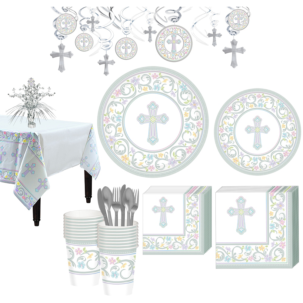 Blessed Day Religious Tableware Kit for 36 Guests Image #1