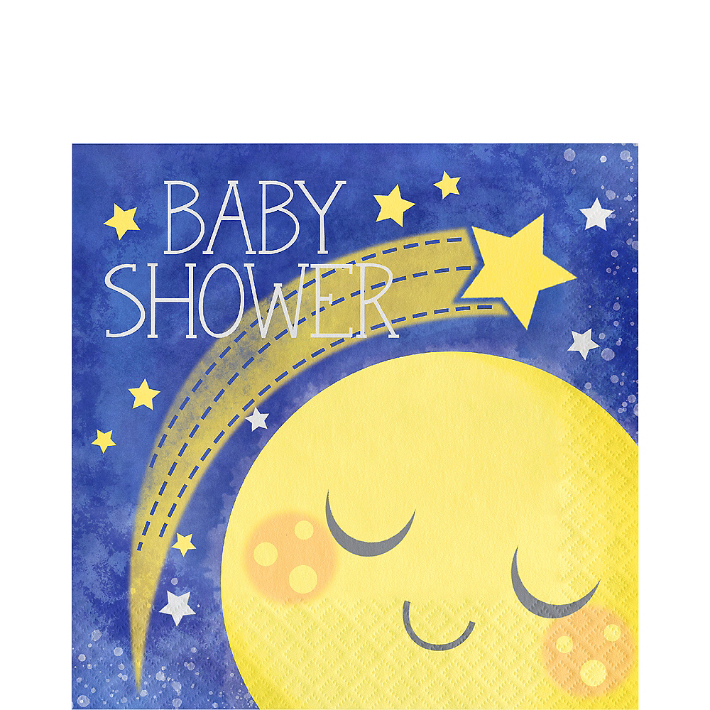Moon & Stars Baby Shower Lunch Napkins 16ct Image #1