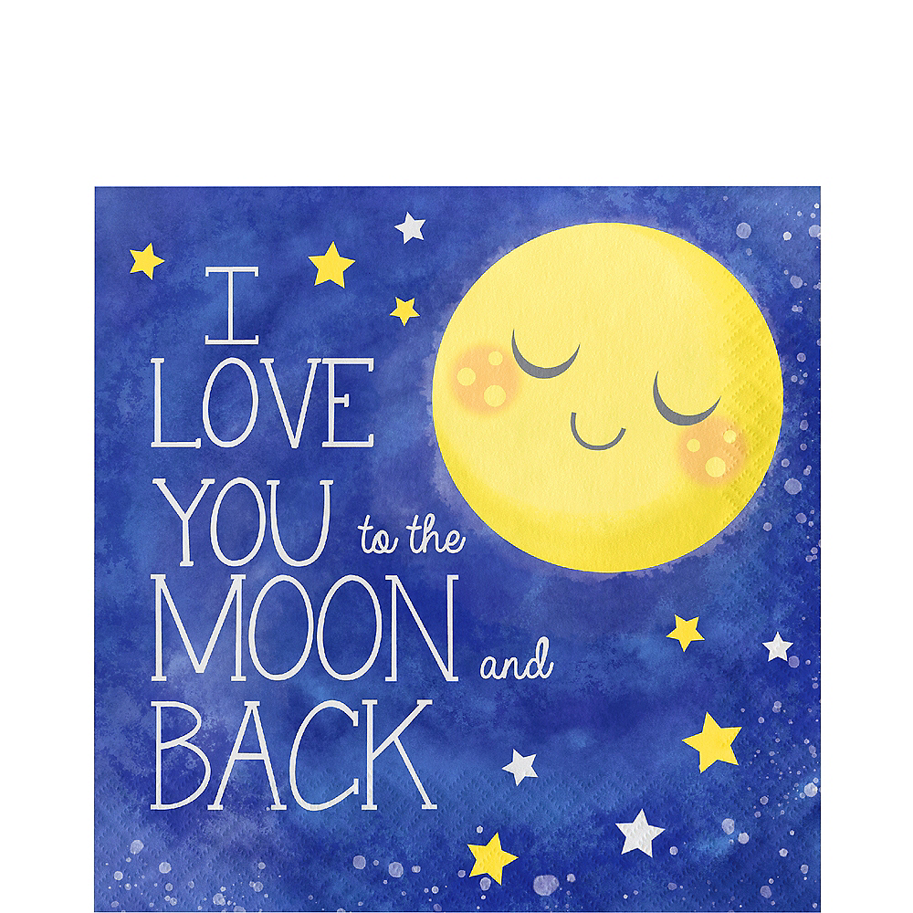 Moon & Stars Lunch Napkins 16ct Image #1