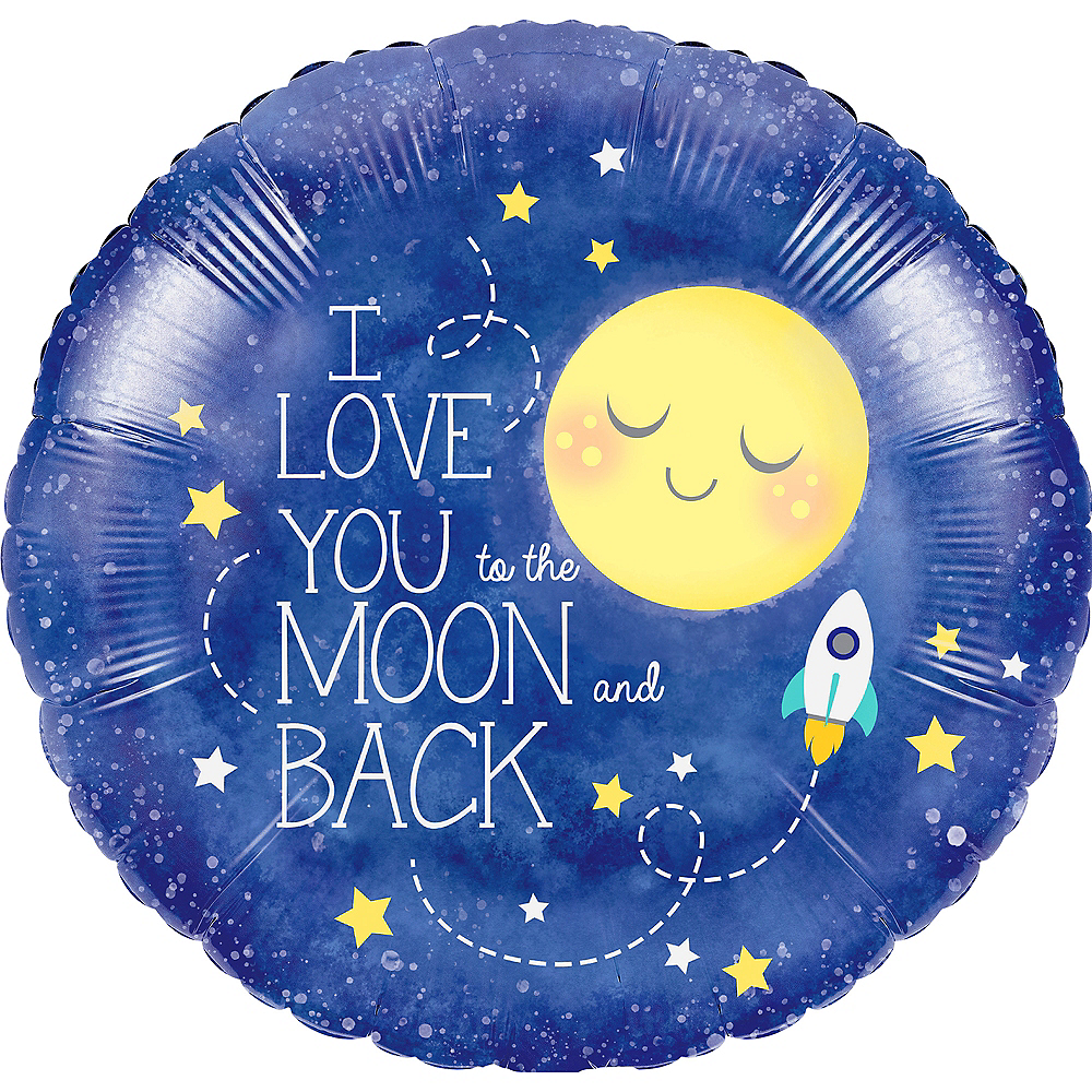 Moon & Stars Balloon, 18in Image #1
