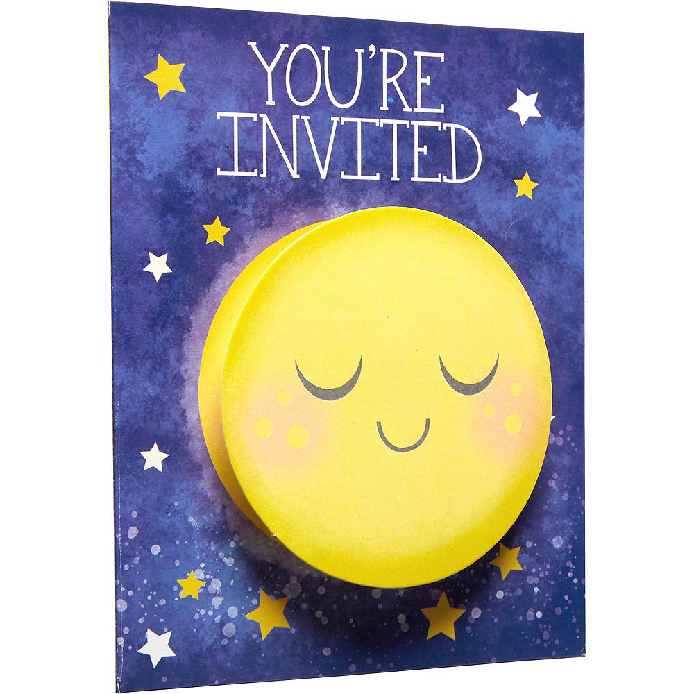 Moon & Stars Invitations 8ct Image #3