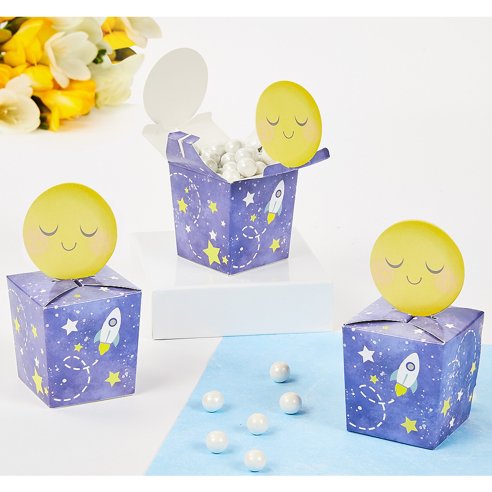 Moon & Stars Favor Boxes 8ct Image #1