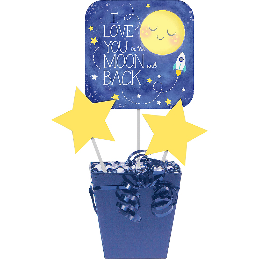 Moon & Stars Centerpiece Sticks 3ct Image #1