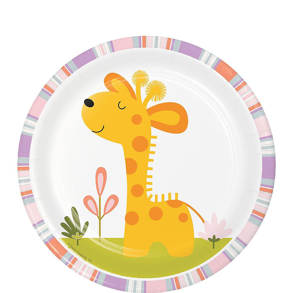 Happy Jungle Giraffe Dessert Plates 8ct Image #1