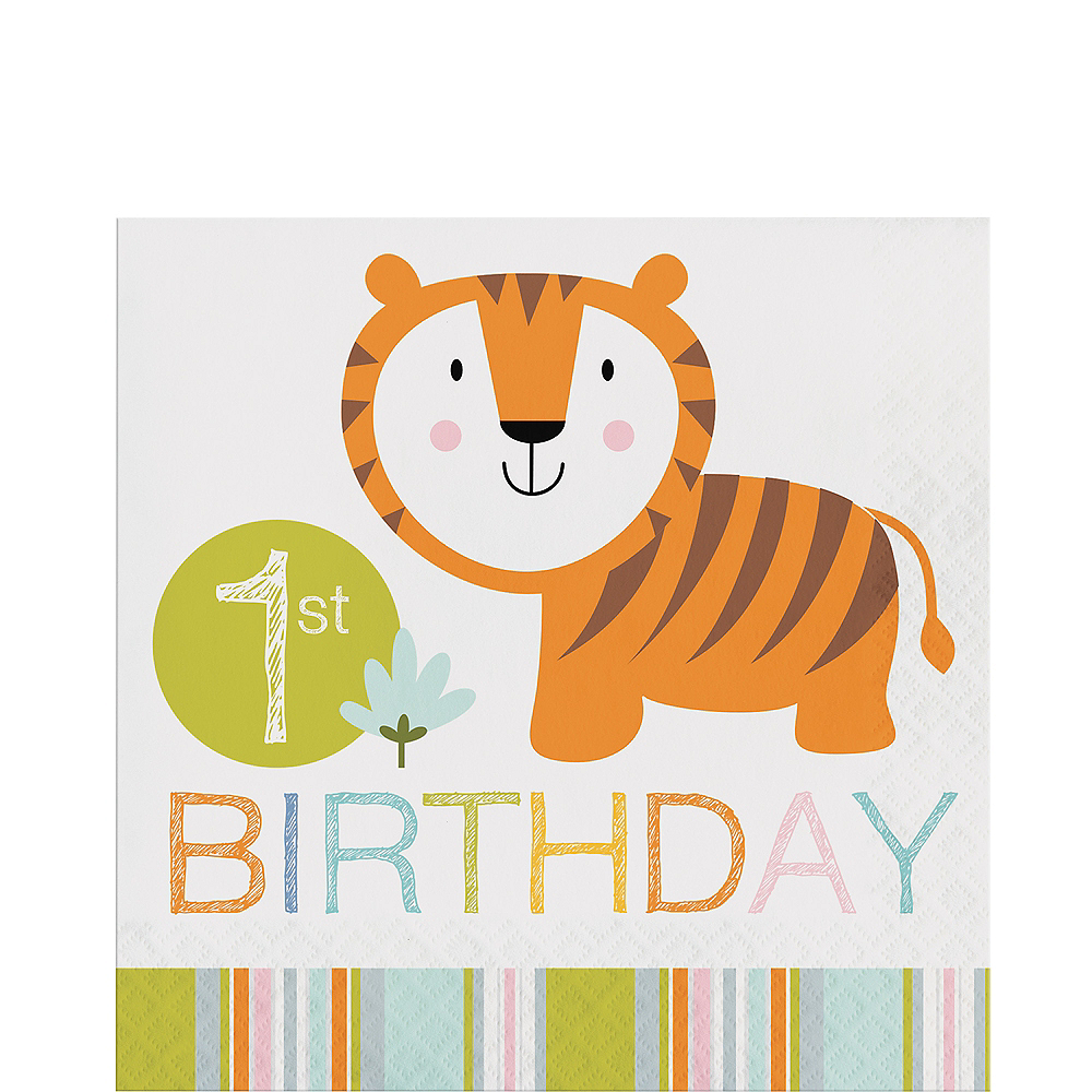 Happy Jungle 1st Birthday Lunch Napkins 16ct Image #1