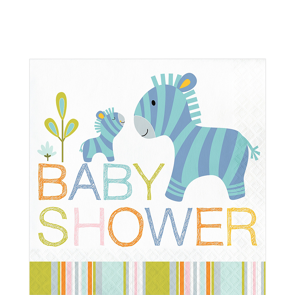 Happy Jungle Baby Shower Lunch Napkins 16ct Image #1