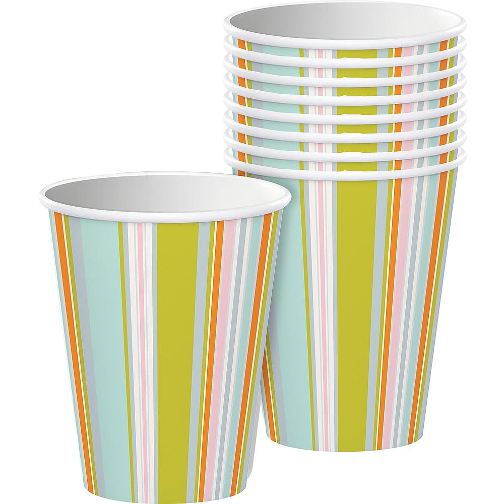Pastel Stripes Cups 8ct Image #1
