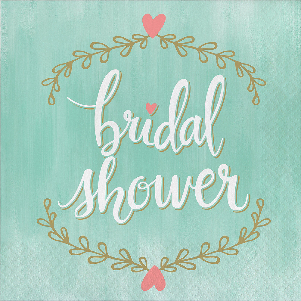 Mint to Be Bridal Shower Lunch Napkins 16ct Image #1