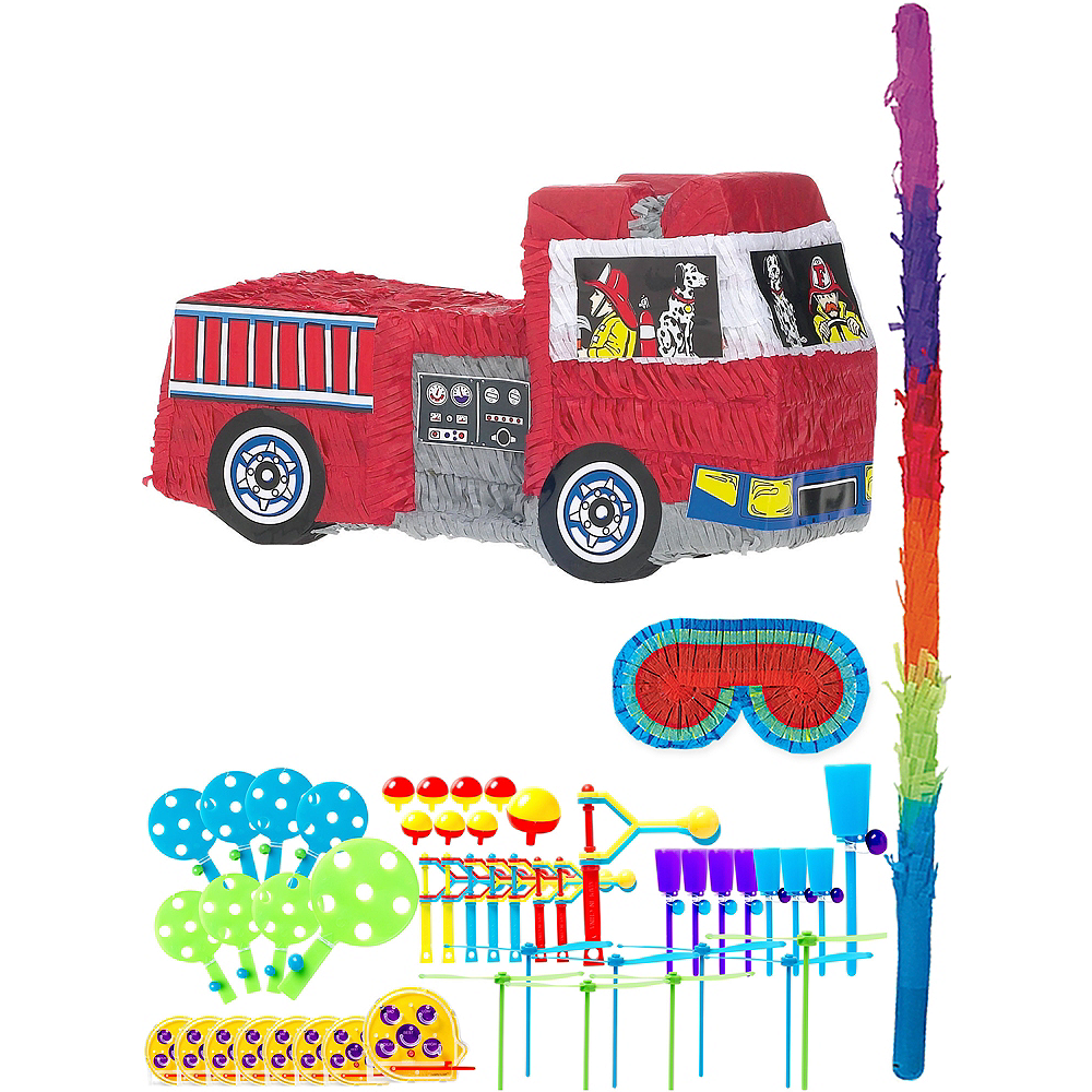 Fire Engine Pinata Kit with Favors Image #1