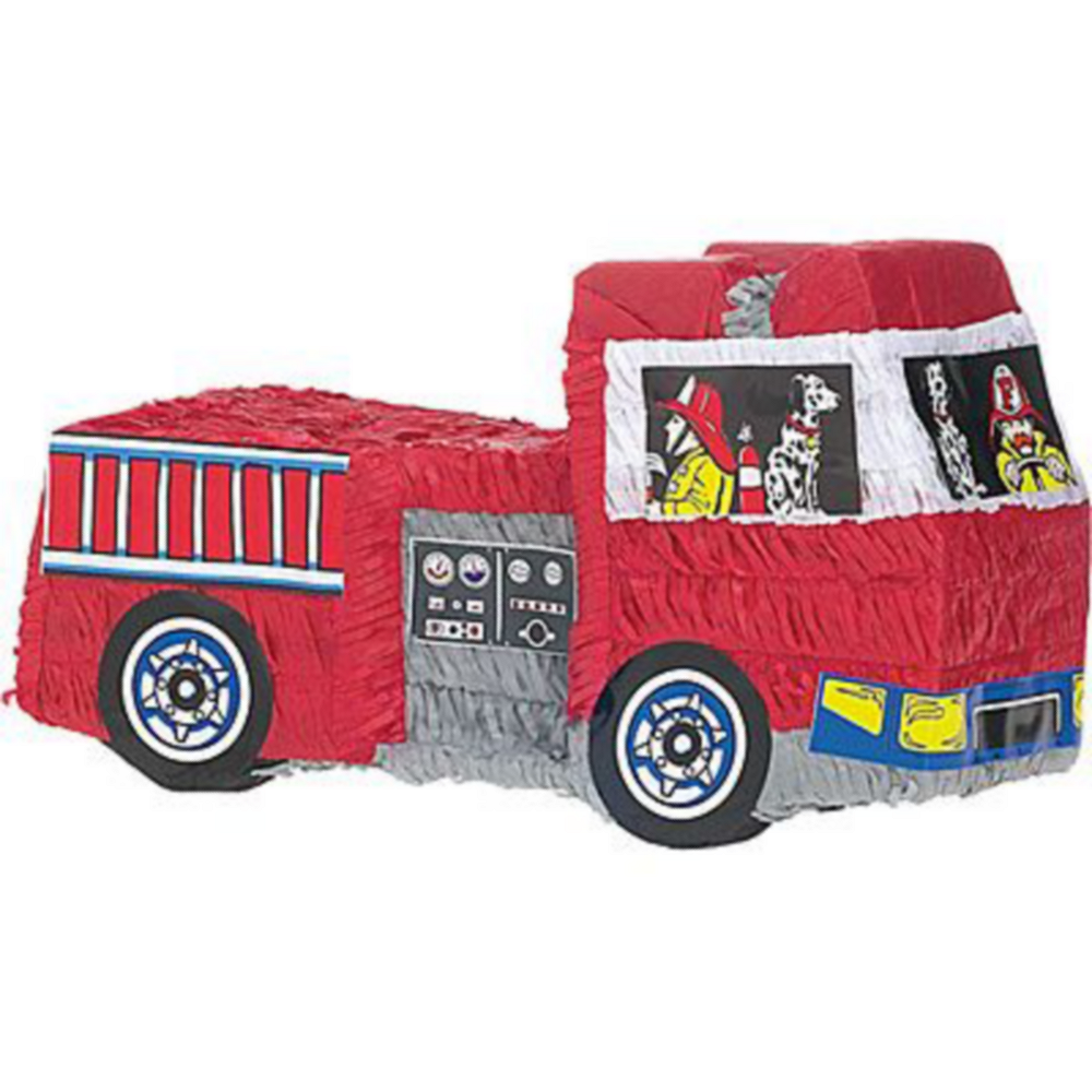 Fire Engine Pinata Kit with Favors Image #3