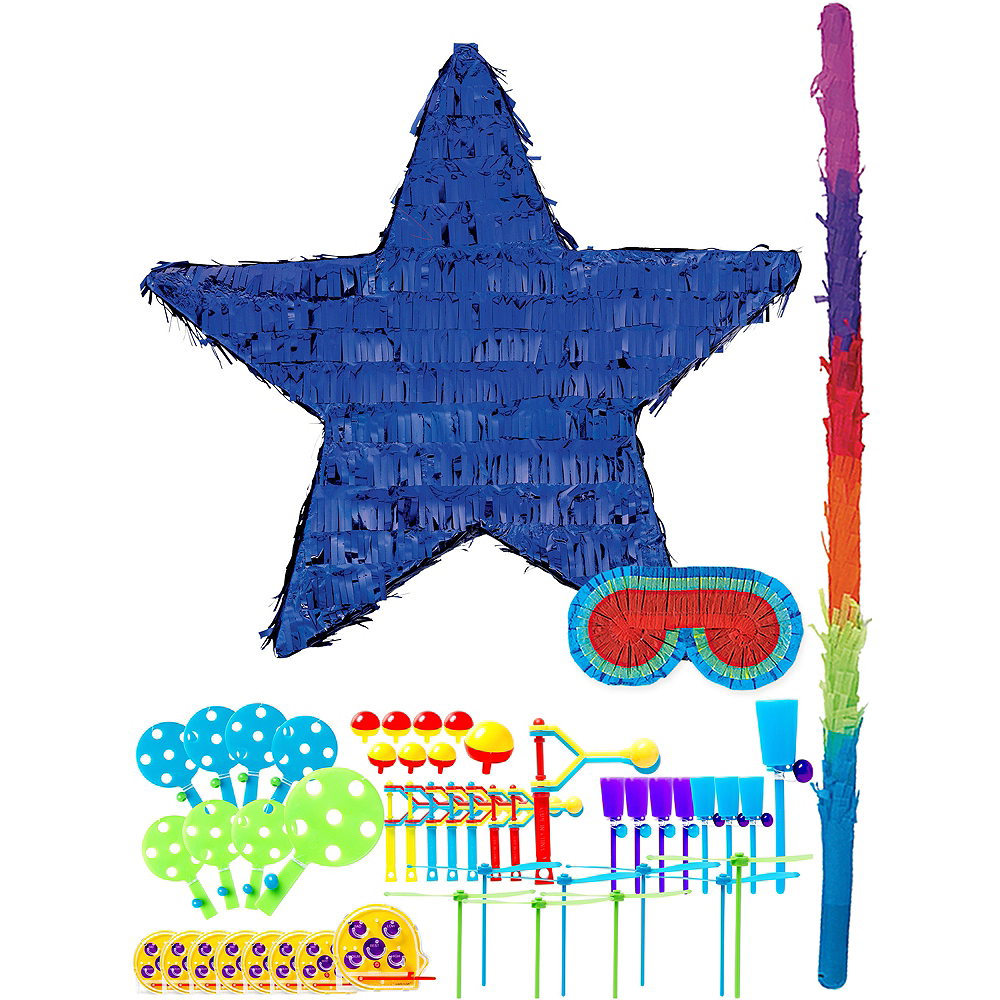 Foil Blue Star Pinata Kit with Favors Image #1