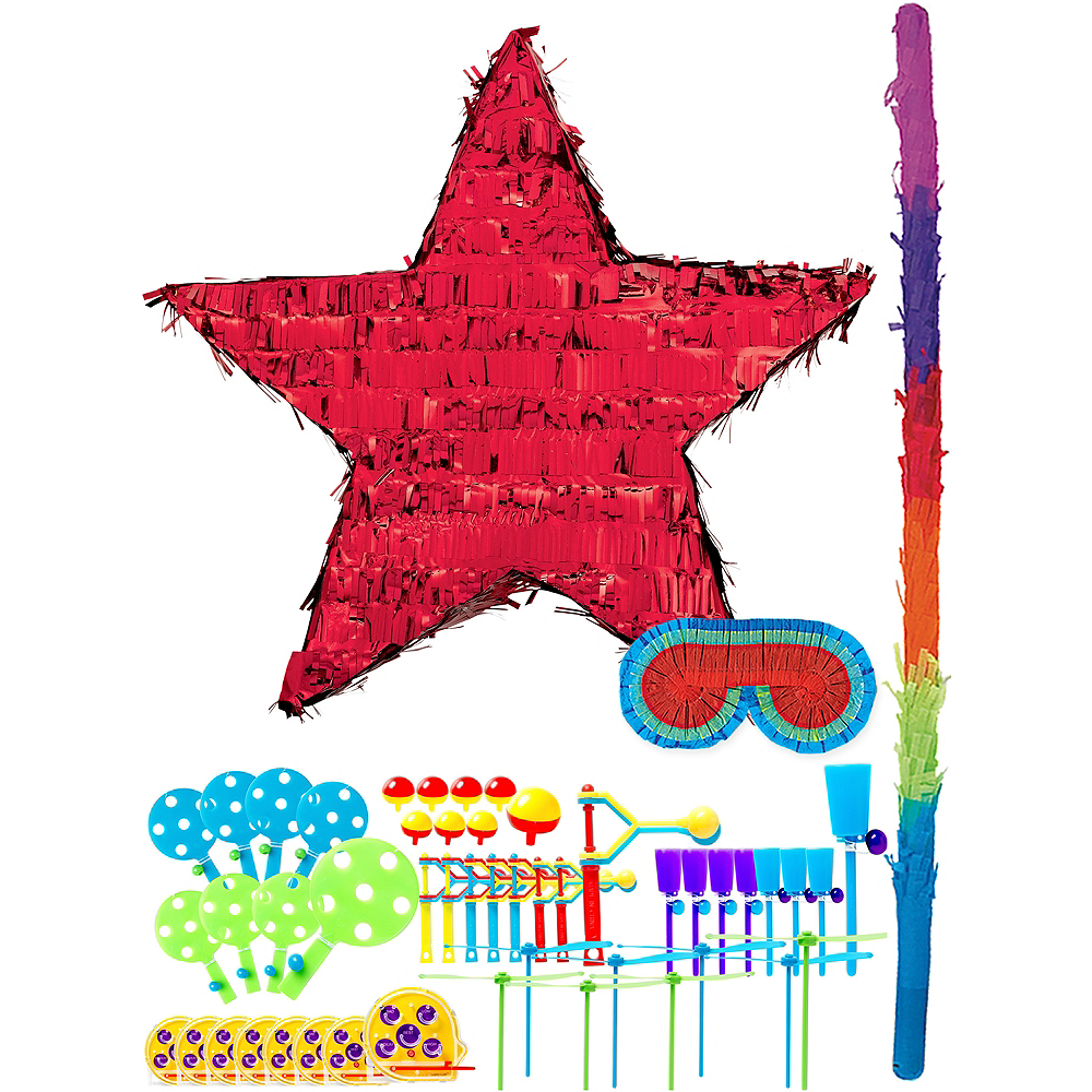 Foil Red Star Pinata Kit with Favors Image #1