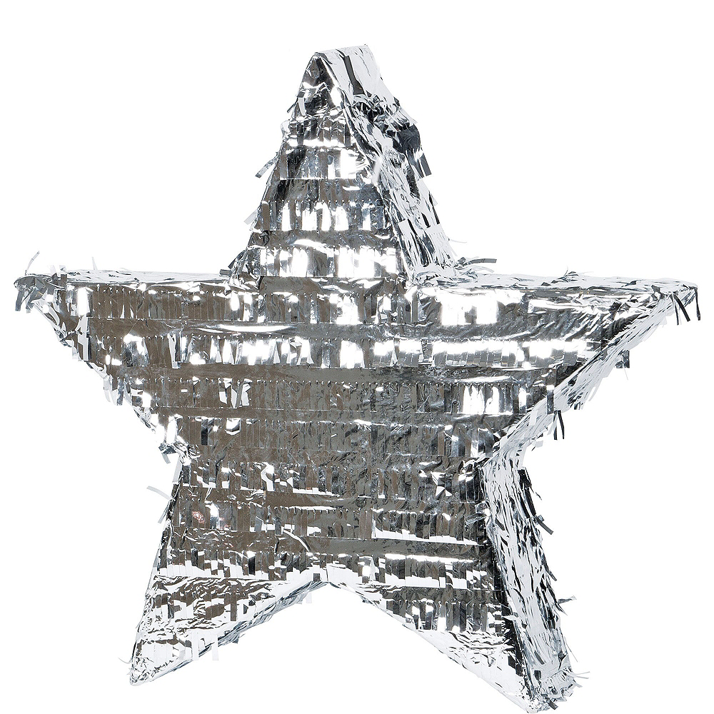 Foil Silver Star Pinata Kit with Favors Image #5