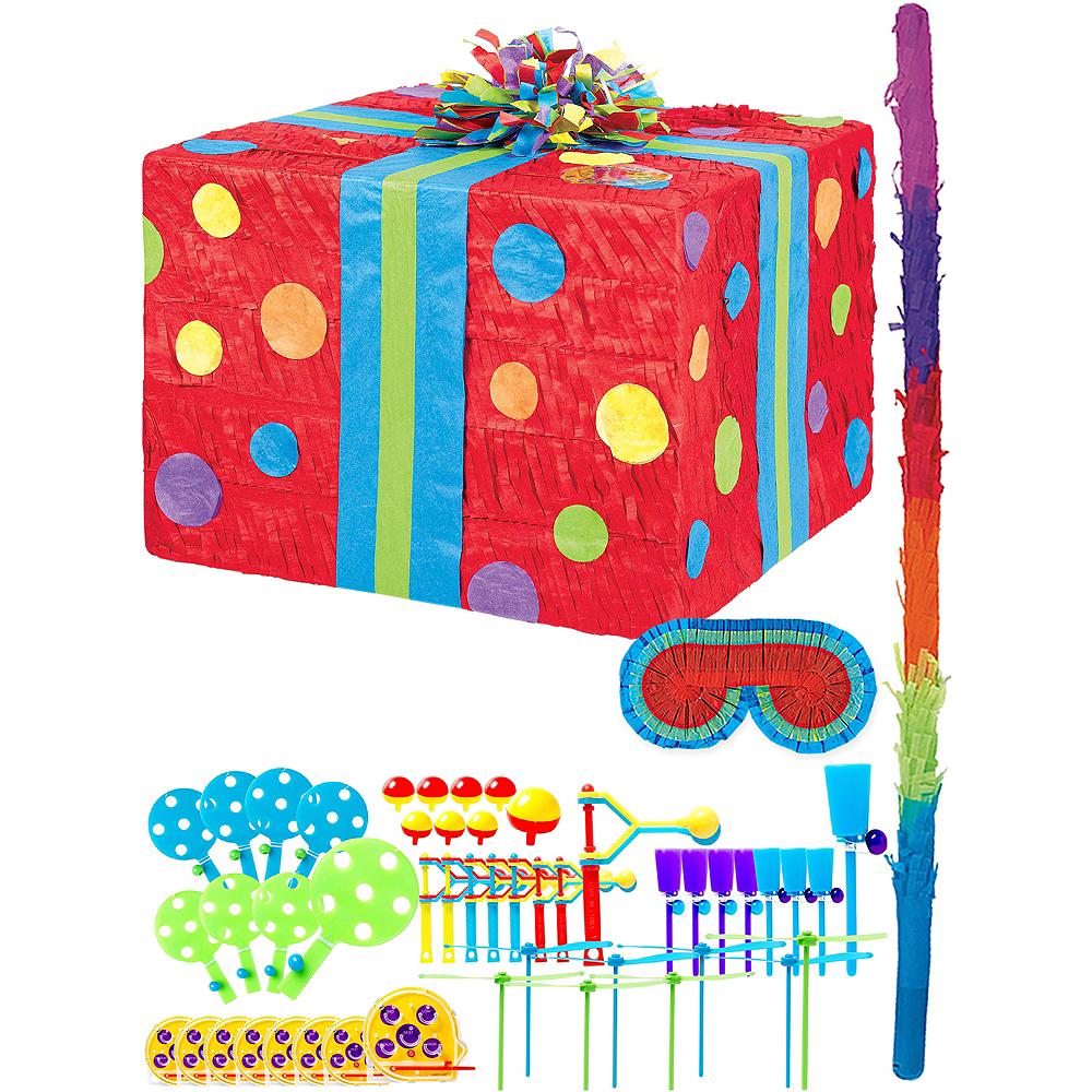 Polka Dot Present Pinata Kit with Favors Image #1