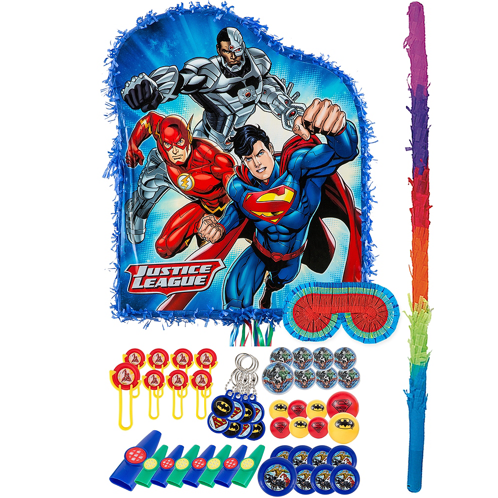 Justice League Pinata Kit with Favors Image #1