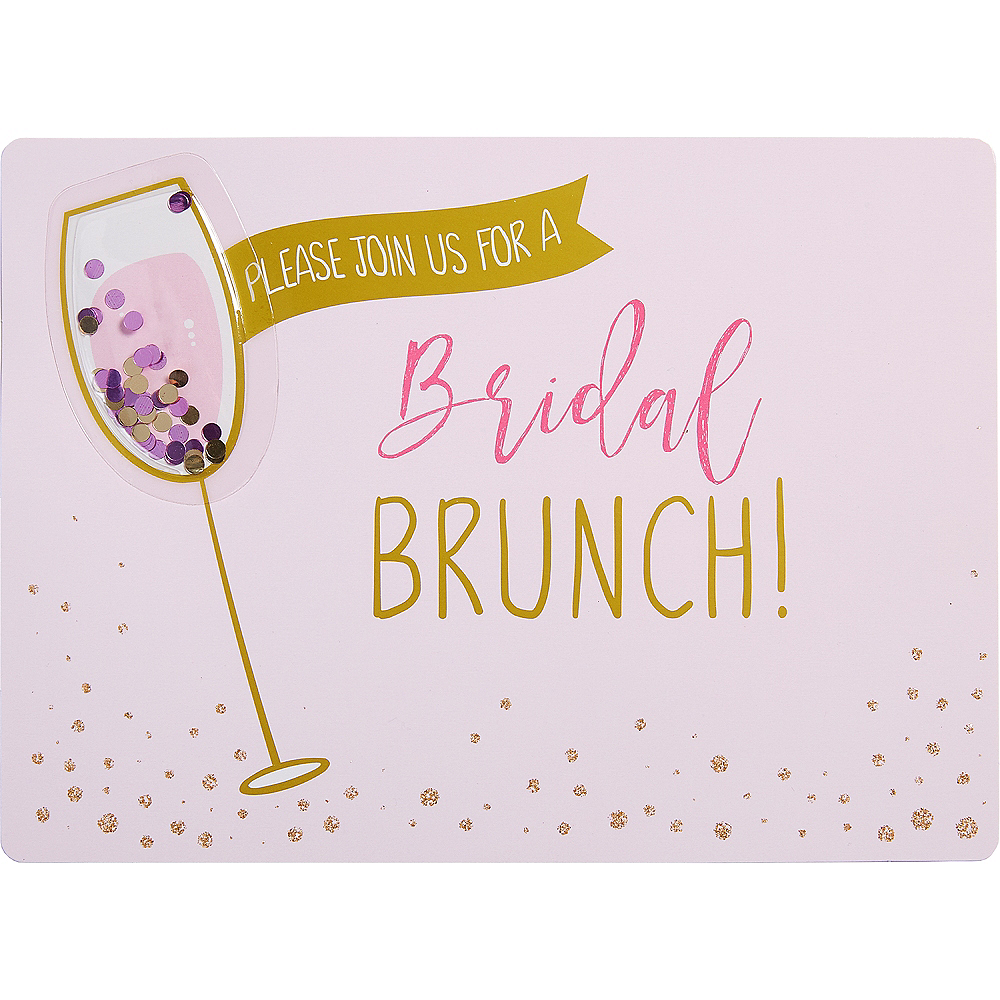 Premium Bridal Shower Brunch Invitations 8ct Image #1
