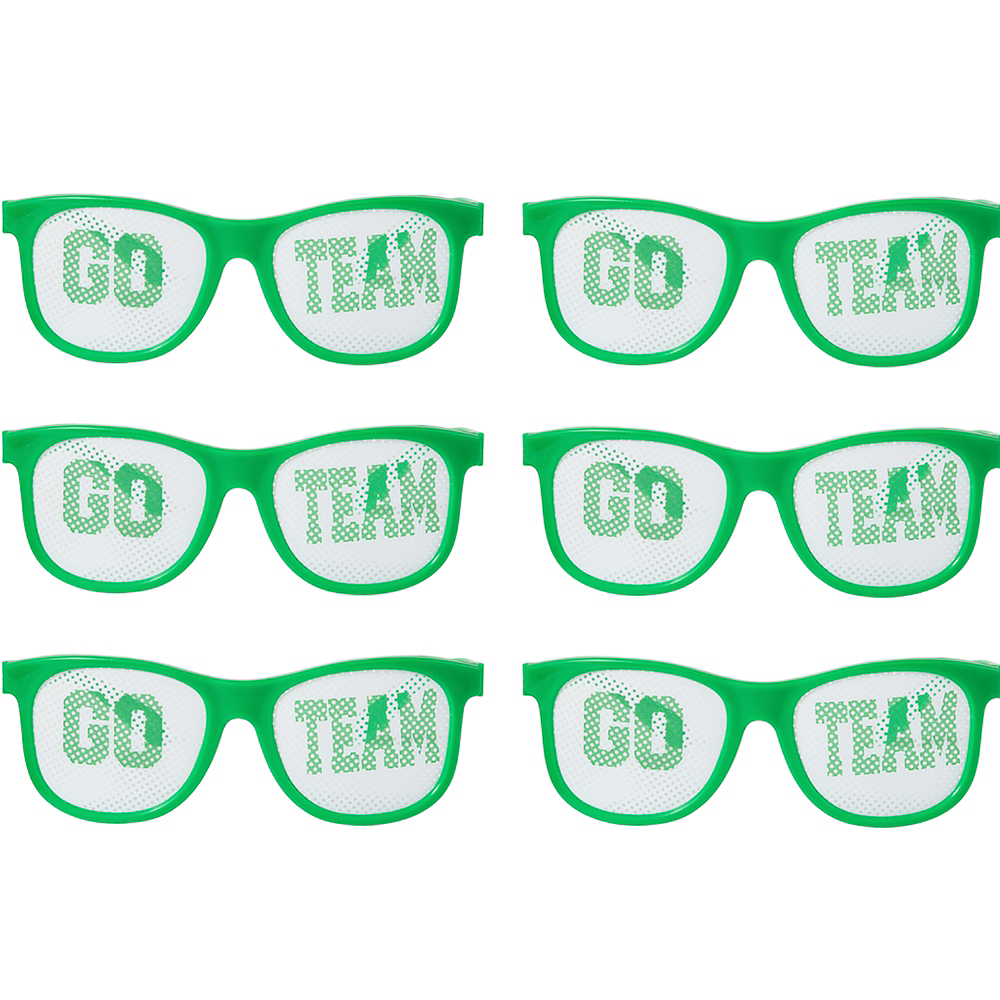 Green Go Team Printed Glasses 12ct Image #1