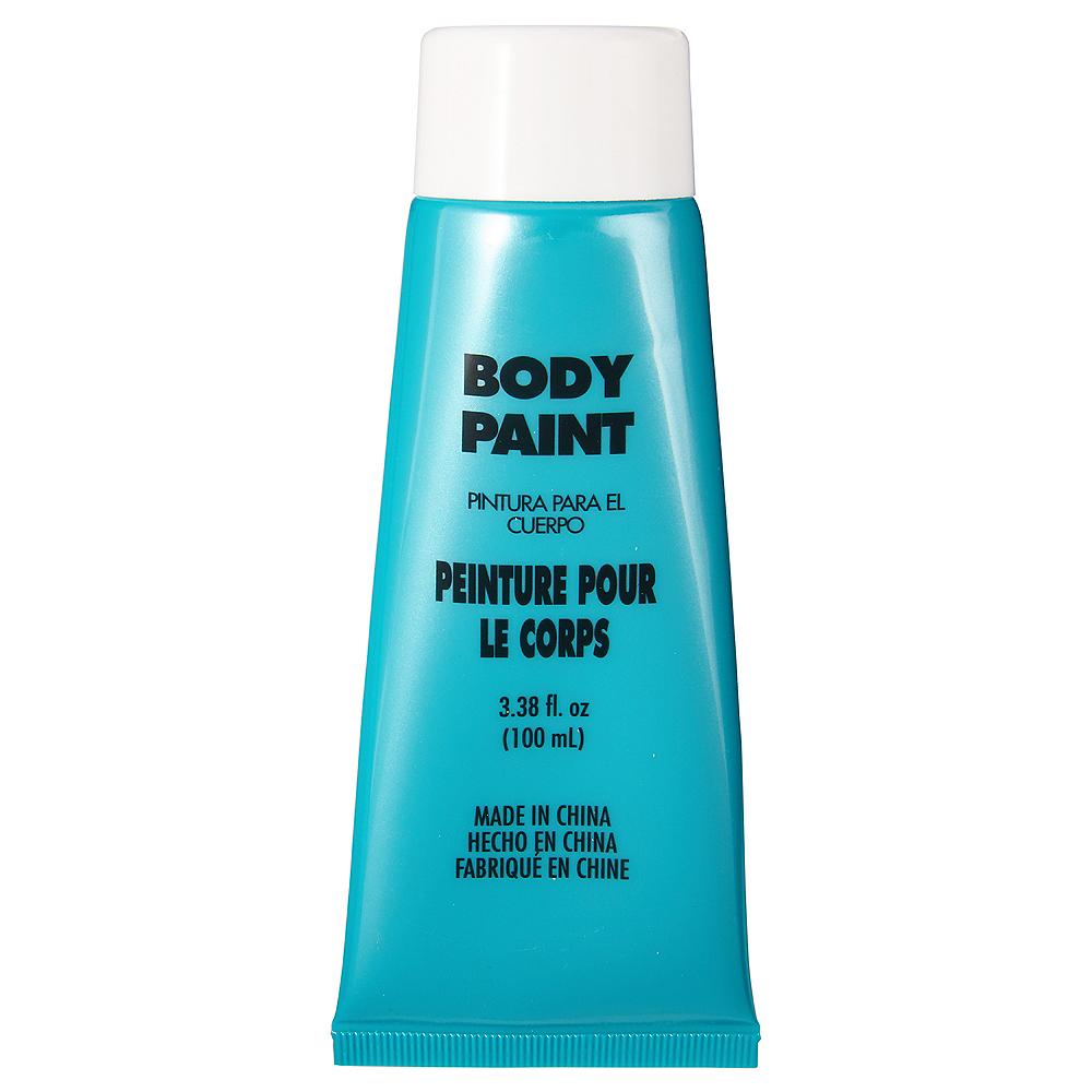 Turquoise Body Paint Image #1
