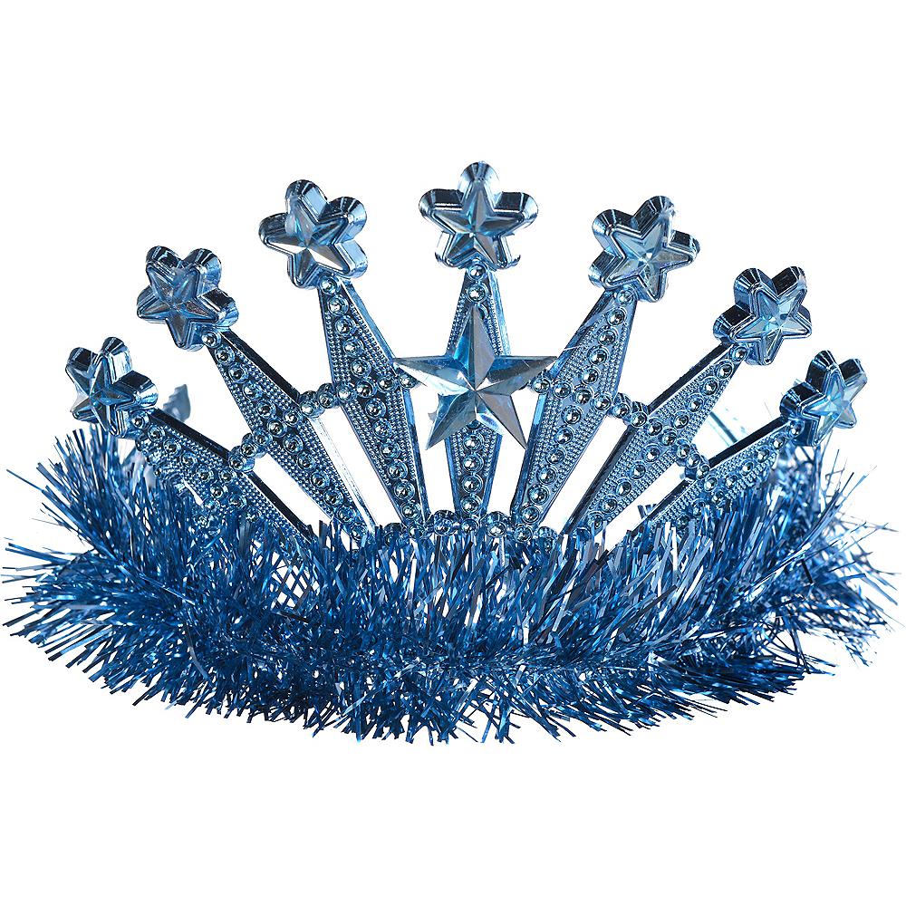 Tinsel Light Blue Star Tiara Image #1