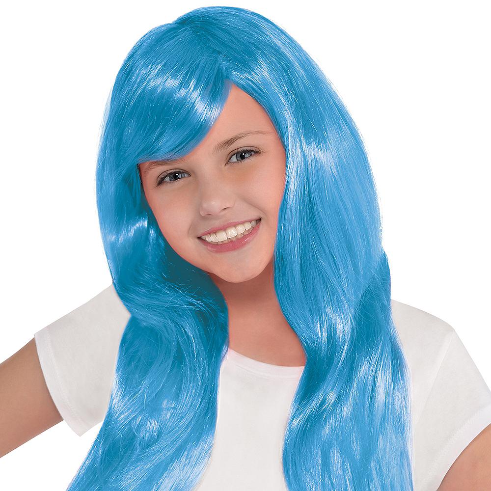 Glamorous Long Light Blue Wig Image #2