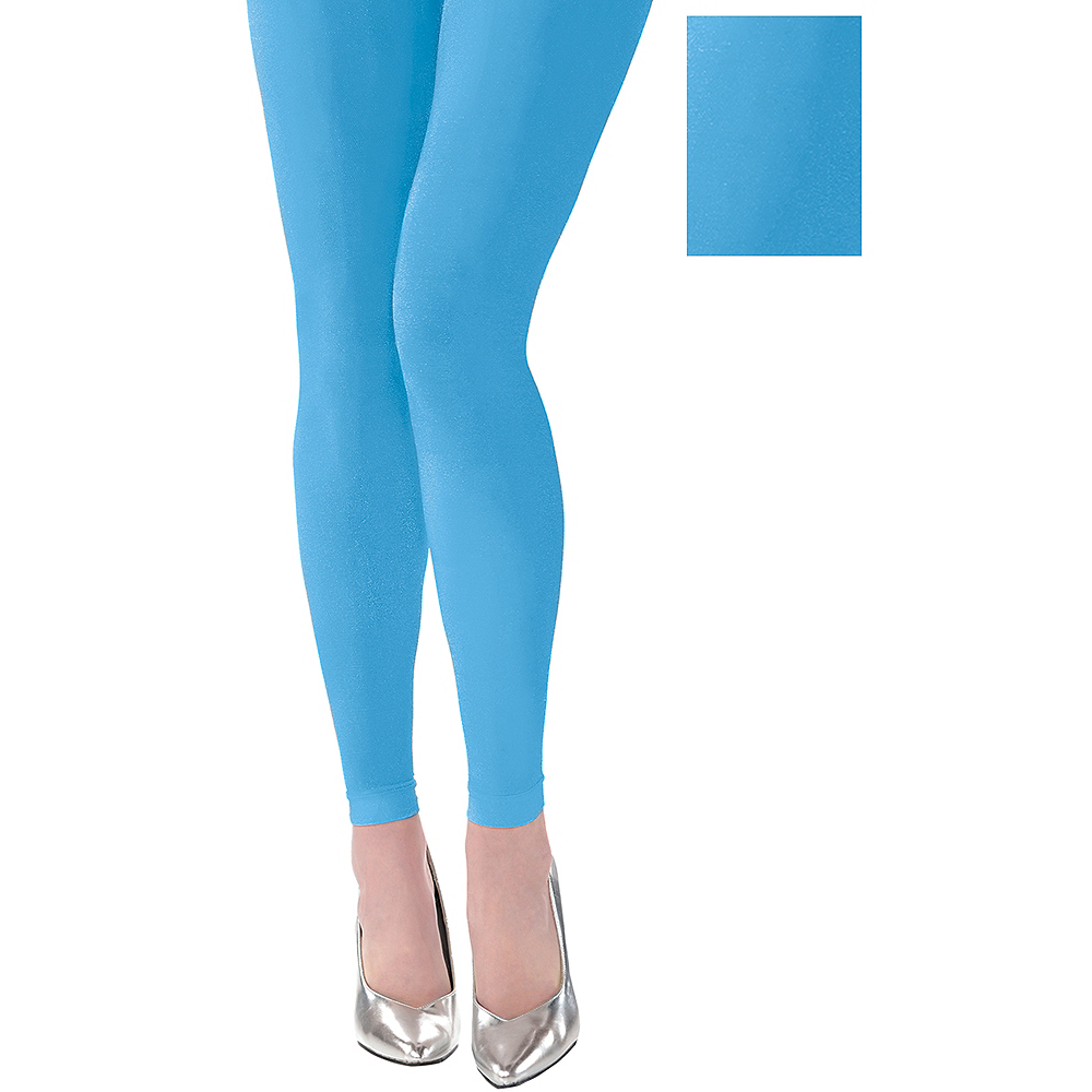 Light Blue Footless Tights Image #1
