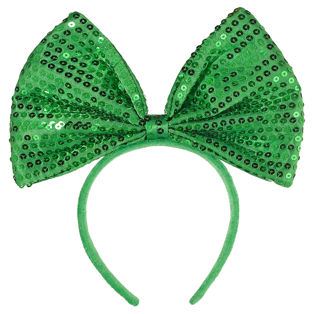 Green Bow Headband Image #1
