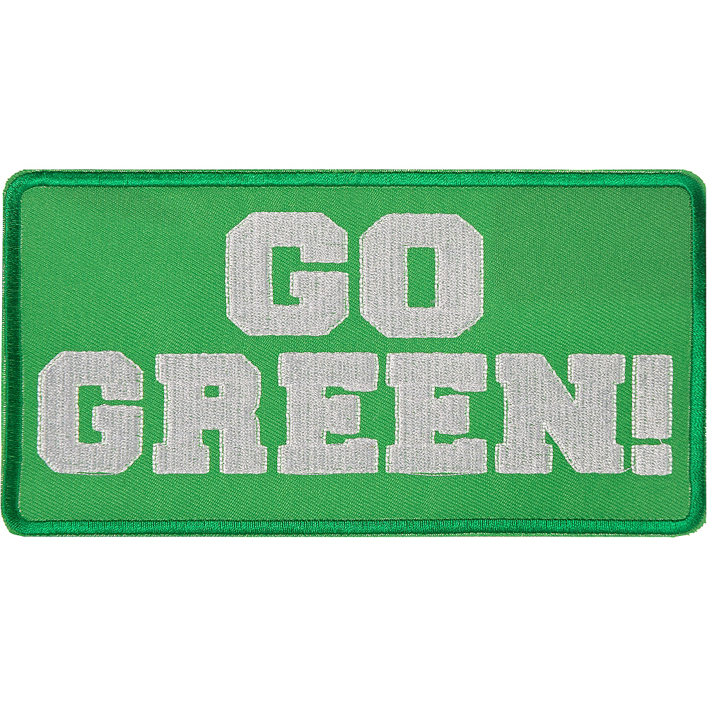 Go Green Iron-On Patch Image #1