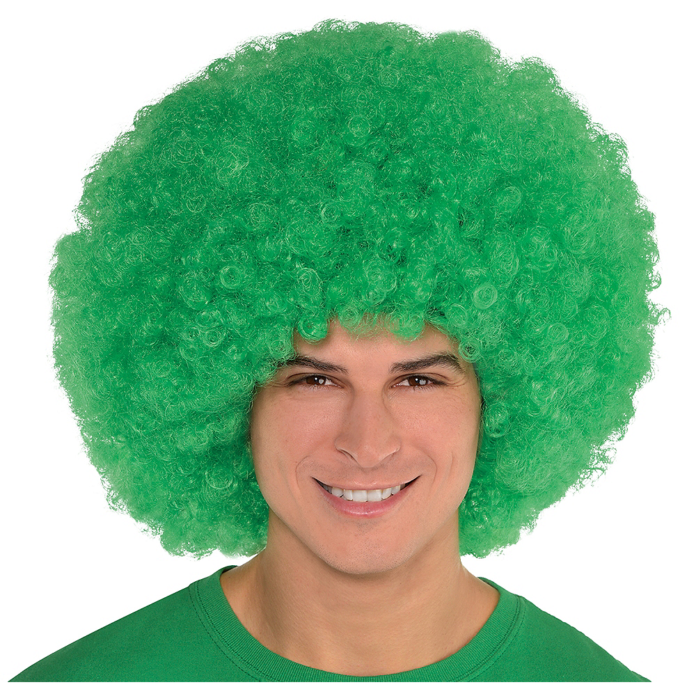 Nav Item for Giant Green Afro Wig Image #1