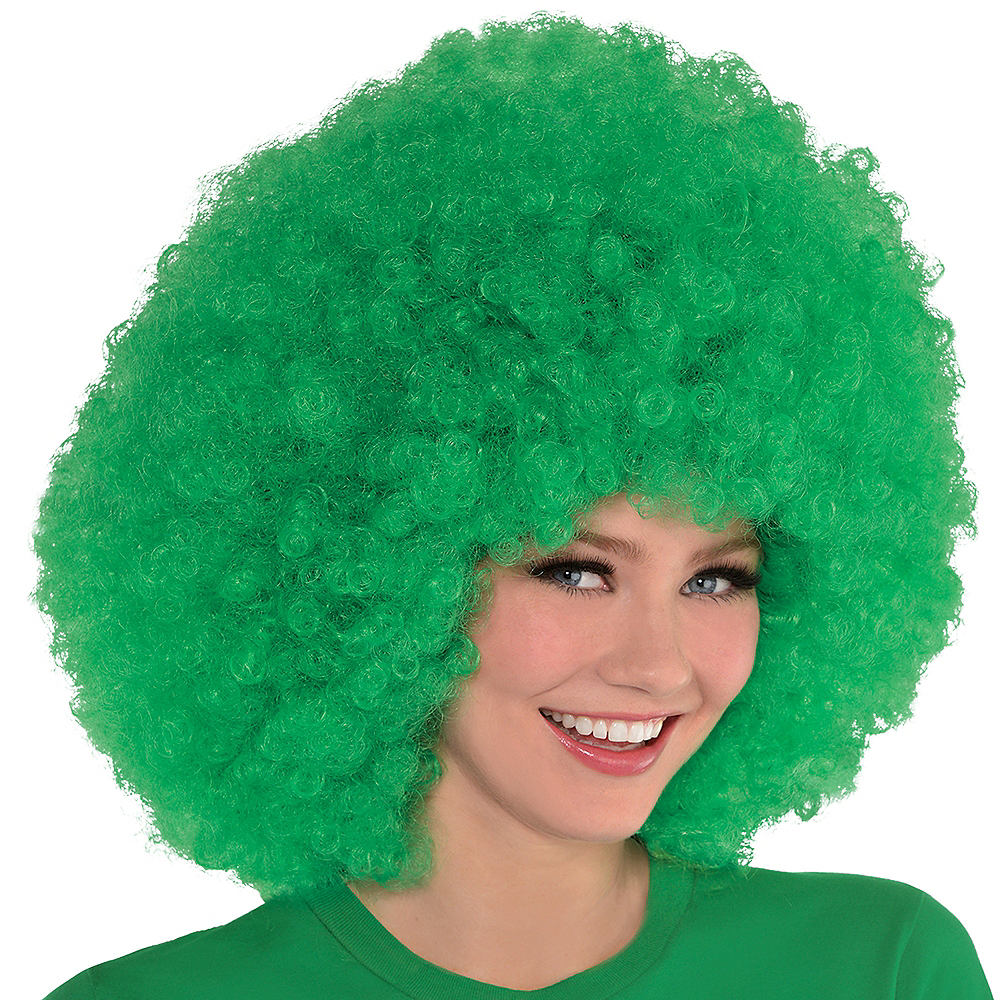 Nav Item for Giant Green Afro Wig Image #2