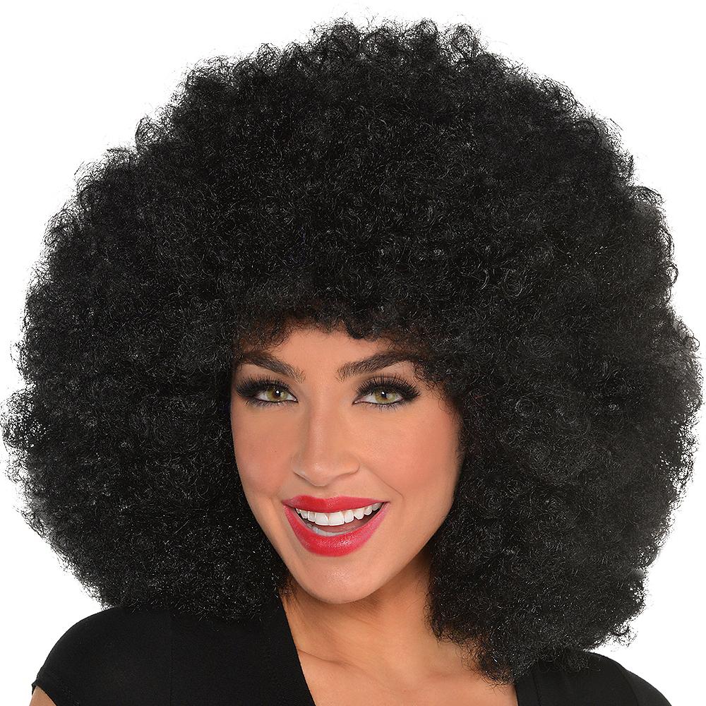 Giant Black Afro Wig Image #2