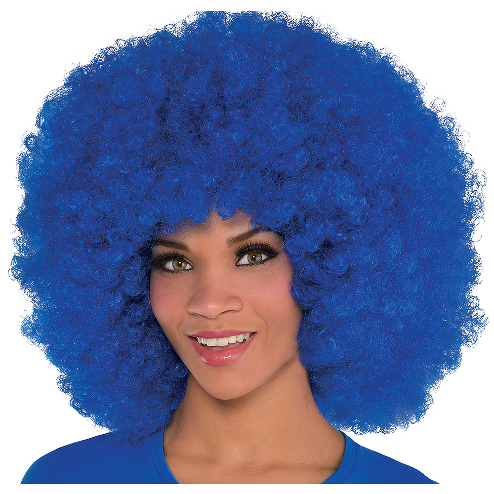 Nav Item for Giant Blue Afro Wig Image #1