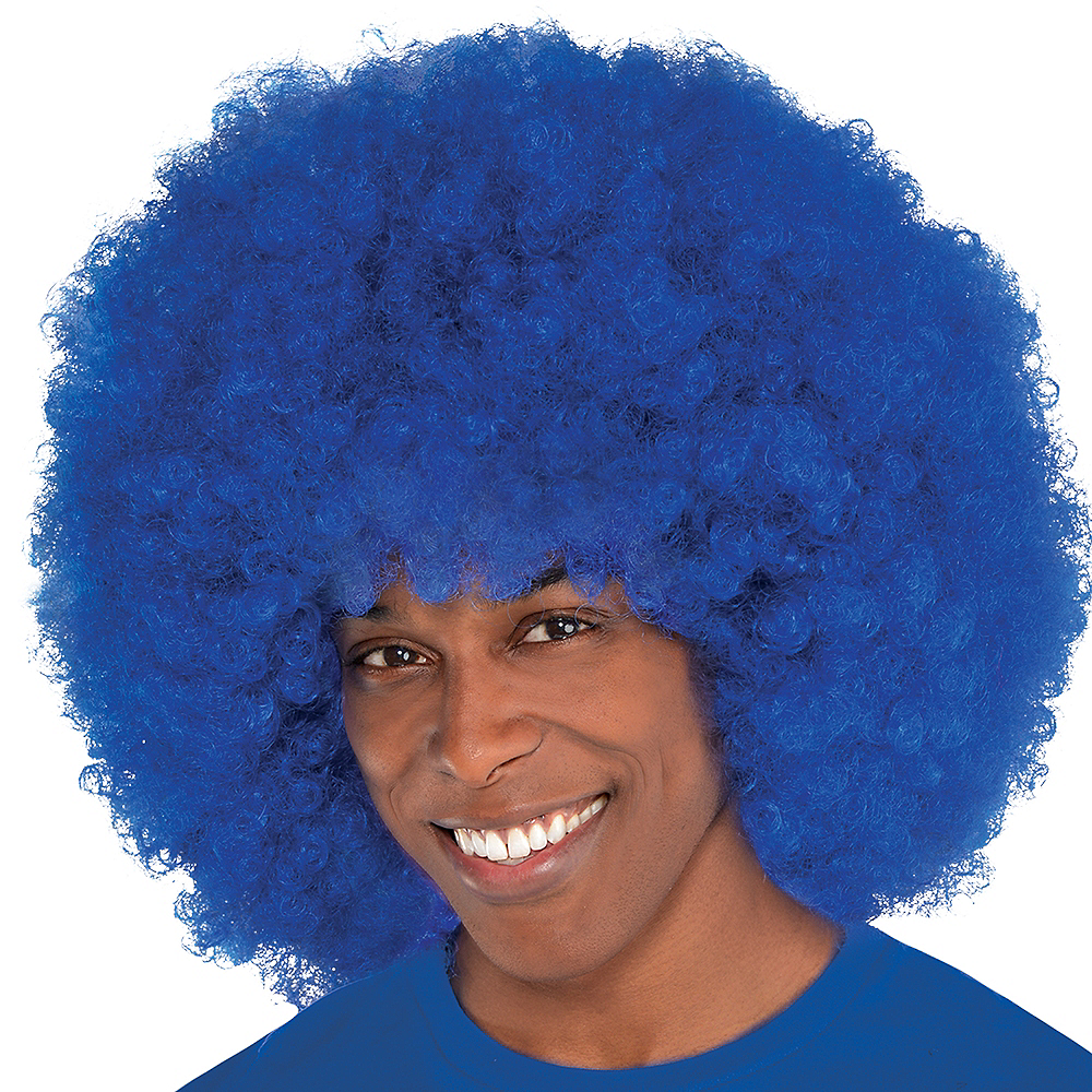 Nav Item for Giant Blue Afro Wig Image #2